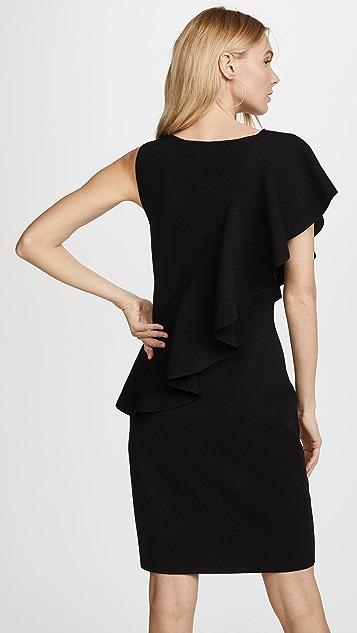 Diane von Furstenberg Sleeveless Asymmetric Ruffle Front Dress