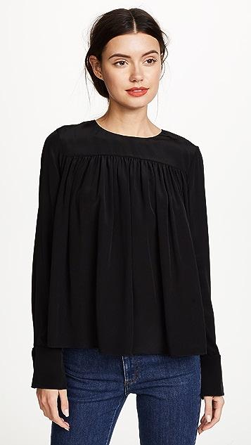 Diane von Furstenberg Tent Blouse - Black