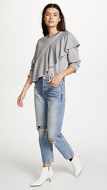 Diane von Furstenberg Ruffle Front Pullover