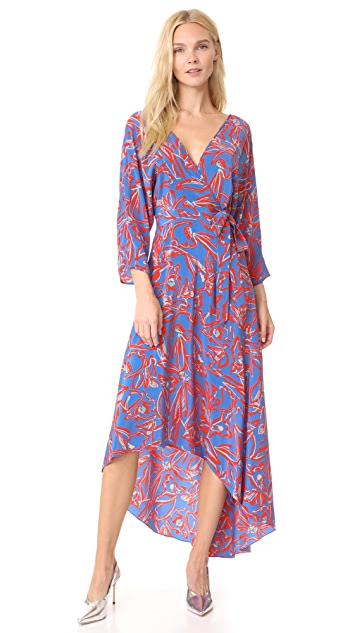 Diane von Furstenberg L/S Asymmetric Hem Dress