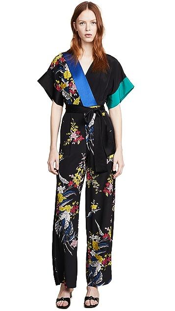 Diane von Furstenberg Short Sleeve Jumpsuit