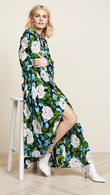 Diane von Furstenberg Bethany Cinch Sleeve Maxi Dress