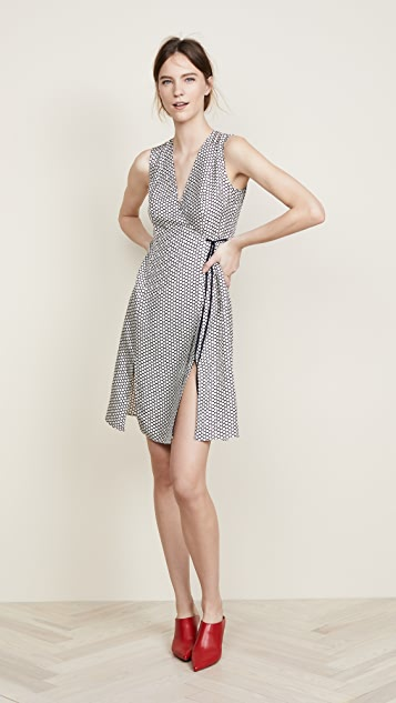 Diane von Furstenberg Side Tie Flare Dress