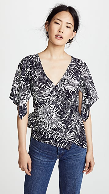 Diane von Furstenberg Side Wrap Shirt