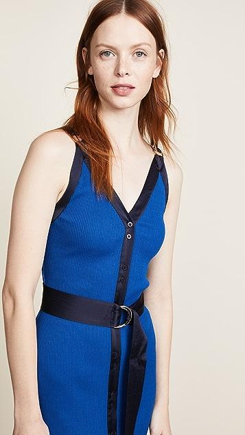 Diane von Furstenberg Ribbed Jersey Maxi Dress