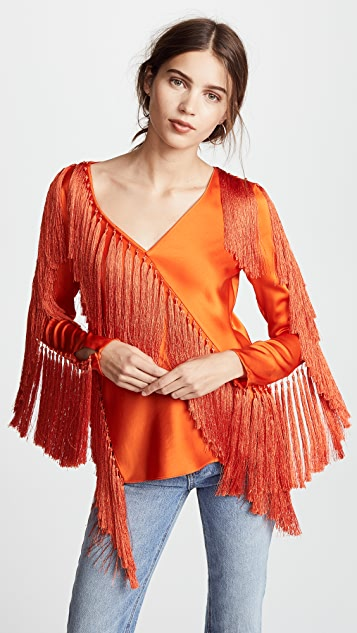 Halter Neck Shell Top in Orange. - size S (also in M,XS) Diane Von F