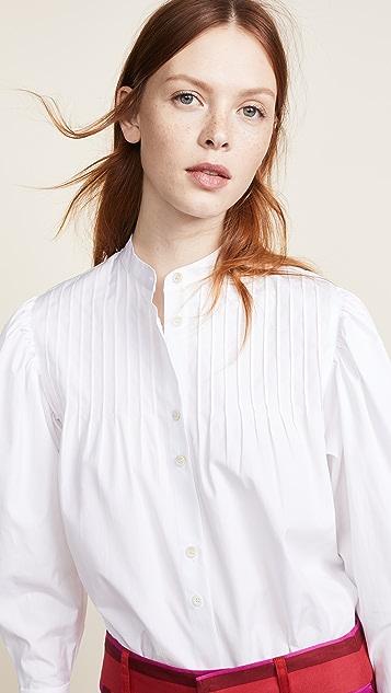 Diane von Furstenberg Pin Tuck Shirt