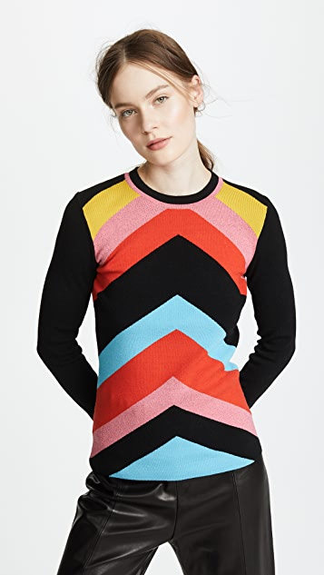 Diane von Furstenberg Rainbow Sweater - Poppy Multi