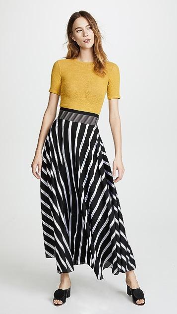 Diane von Furstenberg Draped Maxi Skirt