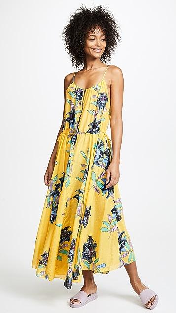 Diane von Furstenberg Cinched Waist Maxi Dress - Argos Pineapple
