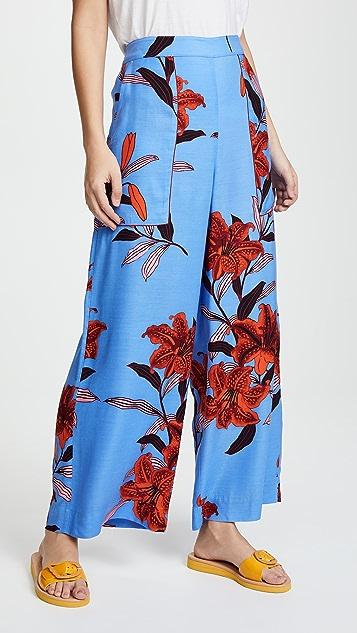 Diane von Furstenberg Wide Leg Cropped Pants