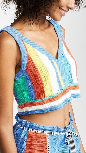 Diane von Furstenberg Crochet Beach Top