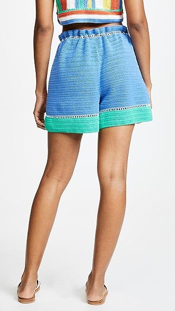 Diane von Furstenberg Crochet Beach Shorts