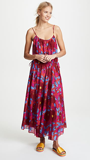 ccd1fc42597 Diane von Furstenberg Cinched Waist Maxi Dress ...
