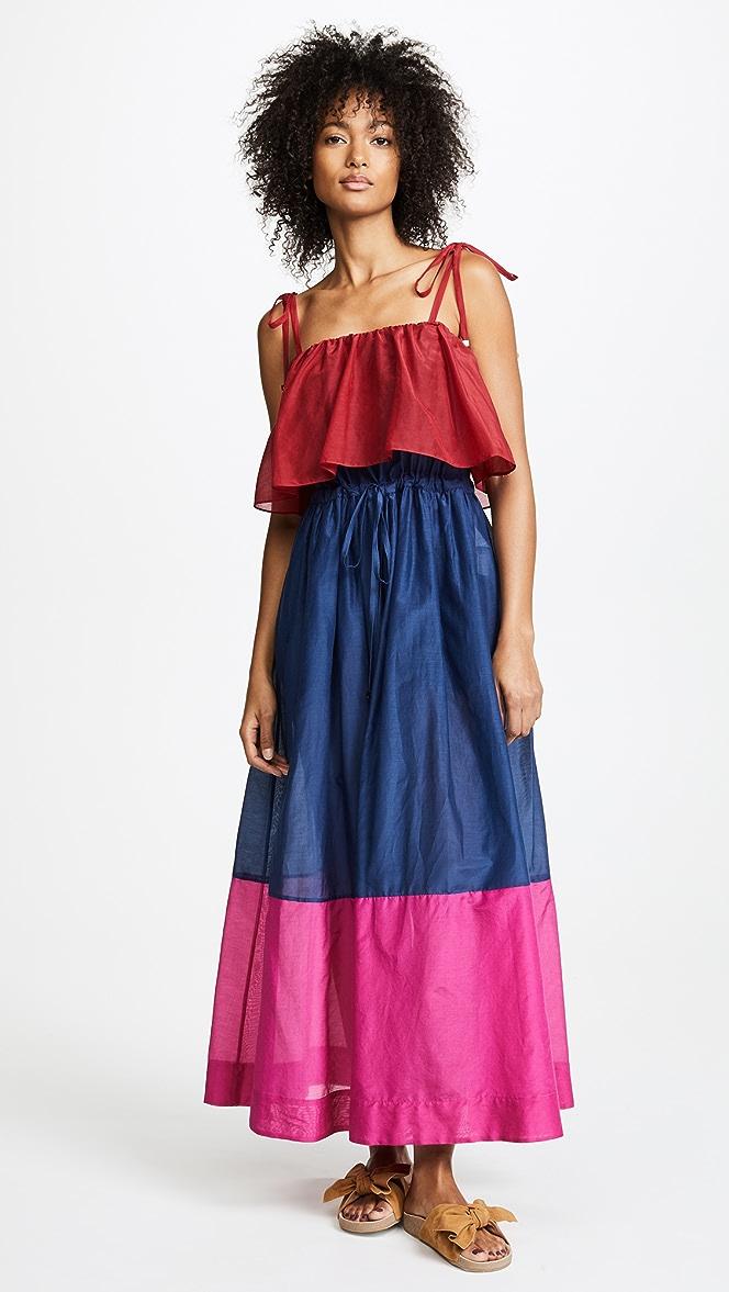 1b55a22c832a5 Diane von Furstenberg Sleeveless Pleated Maxi Dress | SHOPBOP