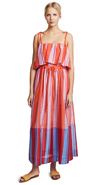 Diane von Furstenberg Sleeveless Pleated Maxi Dress