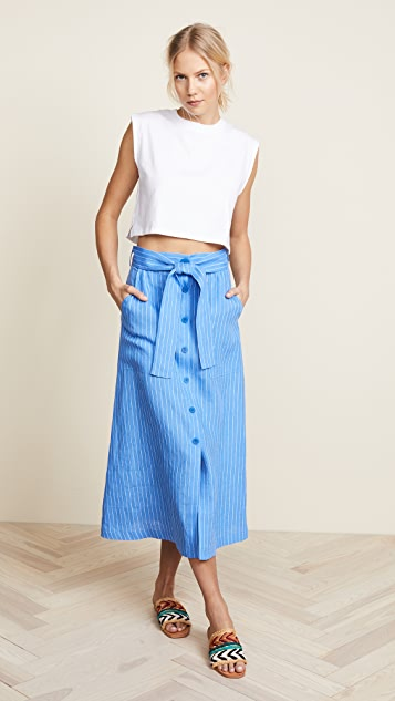 Diane von Furstenberg Button Up Skirt