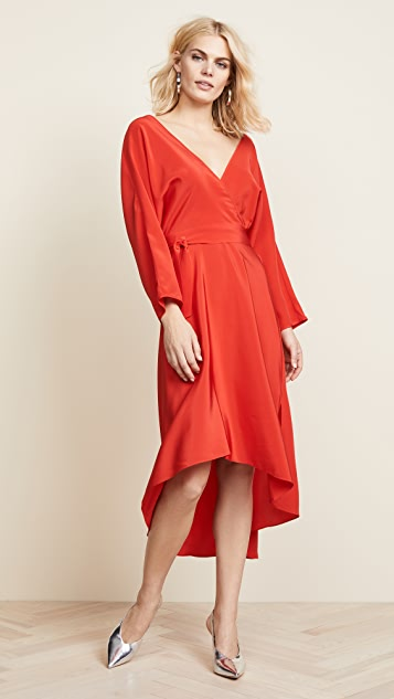Diane von Furstenberg Asymmetric Hem Dress