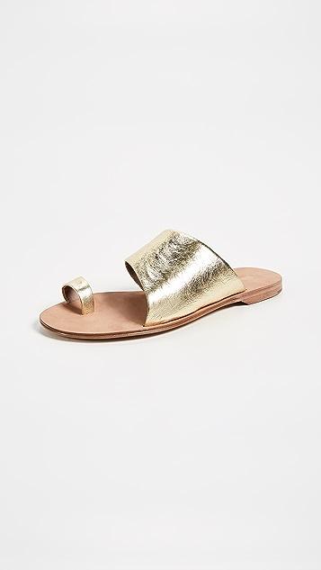 Diane von Furstenberg Brittany Slides - Gold