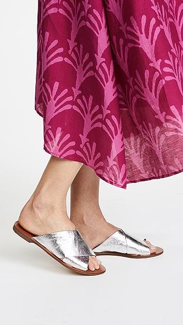 Diane von Furstenberg Bailie Crisscross Slides