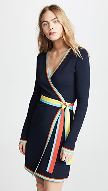 c62947a30c3 ... Diane von Furstenberg Sweater Wrap Dress ...