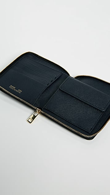 Diane von Furstenberg Small Zip Around Wallet