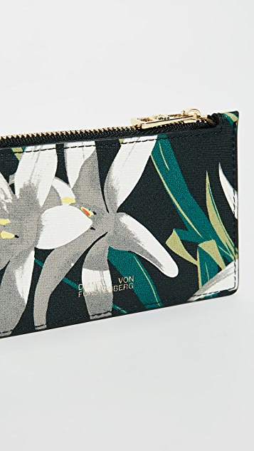 Diane von Furstenberg Zip Top Card Case