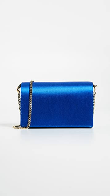 Diane von Furstenberg Mini Soiree Wallet on a Chain - Tile Blue