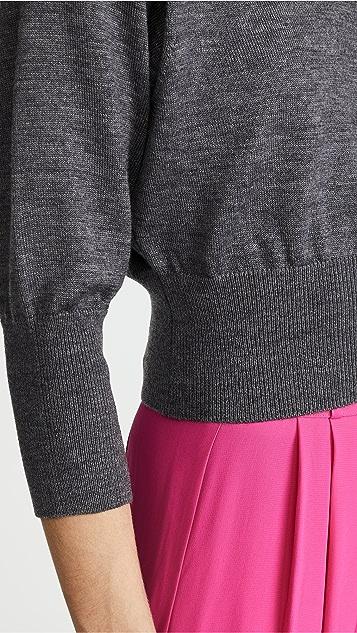 Diane von Furstenberg 3/4 Sleeve Crew Sweater