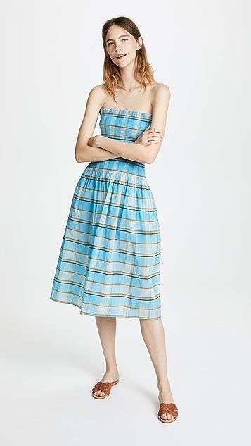 Diane von Furstenberg Smocked Midi Dress