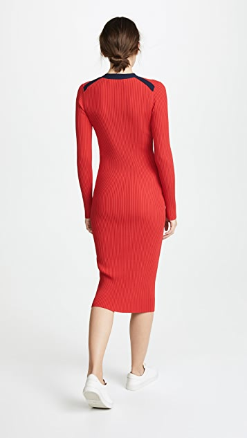Diane von Furstenberg Lace Up Sweater Dress