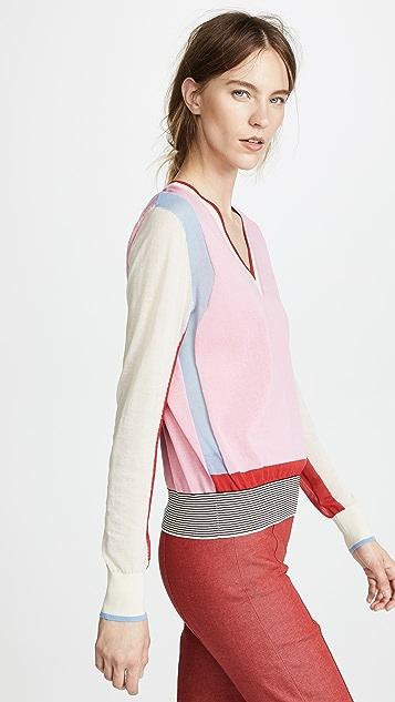 Diane von Furstenberg Colorblock Pullover