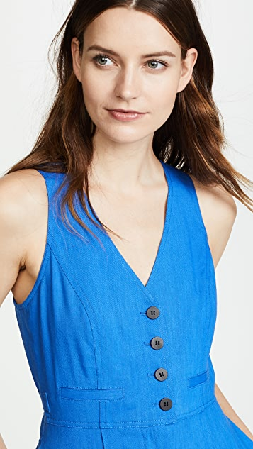 Diane von Furstenberg Button Up Jumpsuit