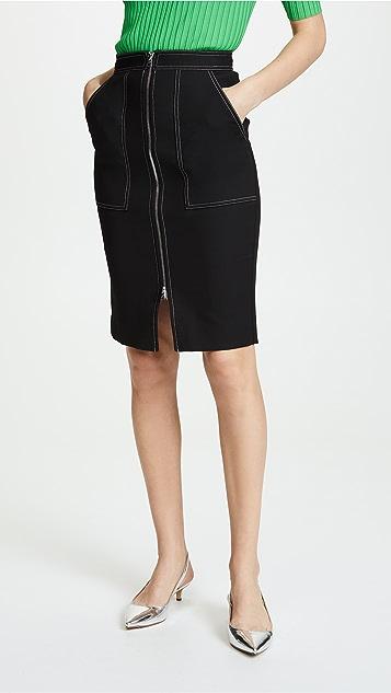 Diane von Furstenberg Patch Pocket Skirt