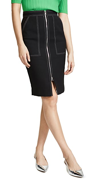 Diane von Furstenberg Patch Pocket Skirt