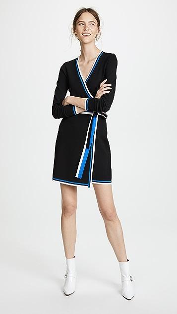 Diane von Furstenberg Wrap Sweater Dress