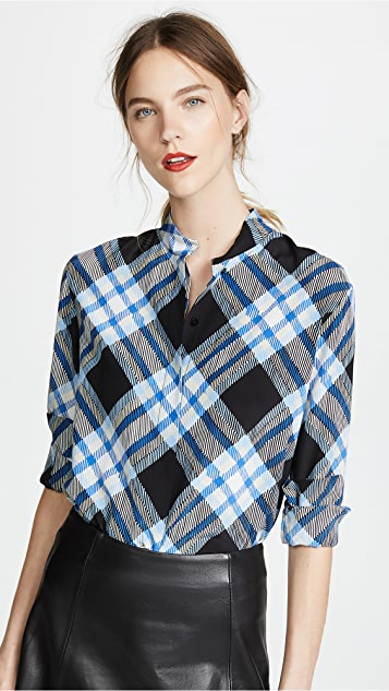 Diane von Furstenberg Collared Button Down Top