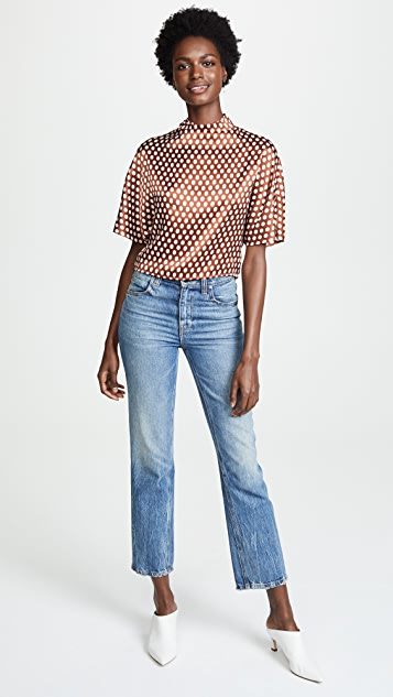 Diane von Furstenberg High Neck Blouse