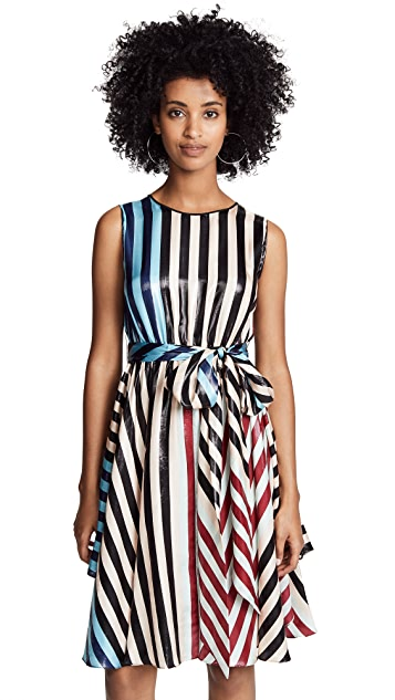 Diane von Furstenberg Waist Tie Draped Dress