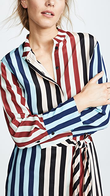 Diane von Furstenberg Striped Shirt Dress