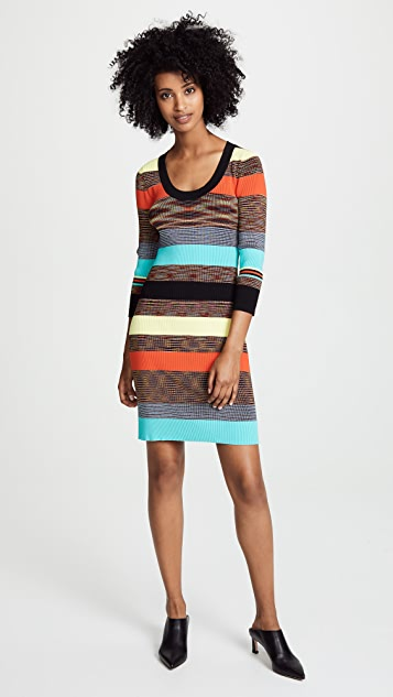 Diane von Furstenberg Scoop Neck Sweater Dress