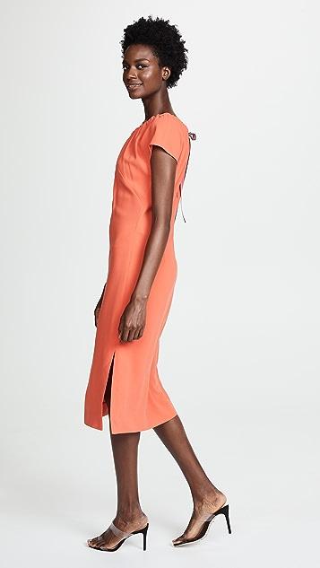 Diane von Furstenberg Pintuck Block Dress