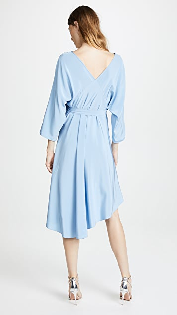 Diane von Furstenberg Asymmetrical Hem Dress