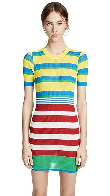 Diane von Furstenberg Elbow Sleeve Knit Dress