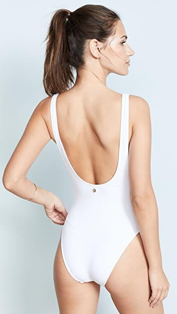 Diane von Furstenberg Scoop High Leg One Piece Swimsuit