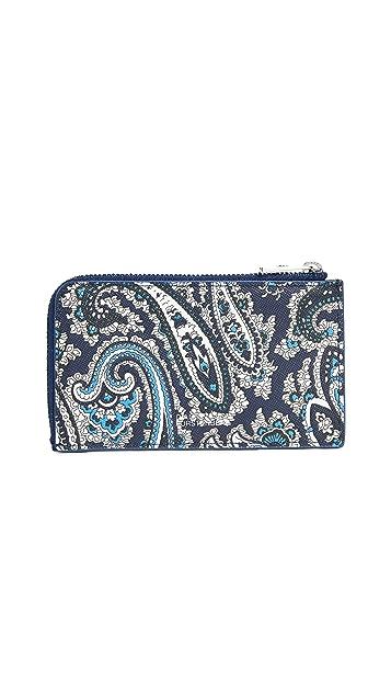 Diane von Furstenberg Zip Top Card Case