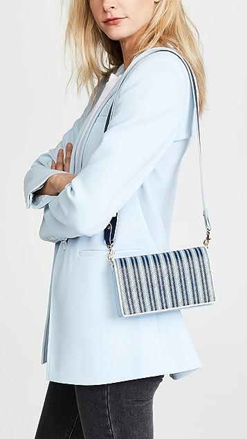 Diane von Furstenberg Soiree Raffia Cross Body Bag
