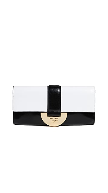 Diane von Furstenberg East West Monogram Clutch