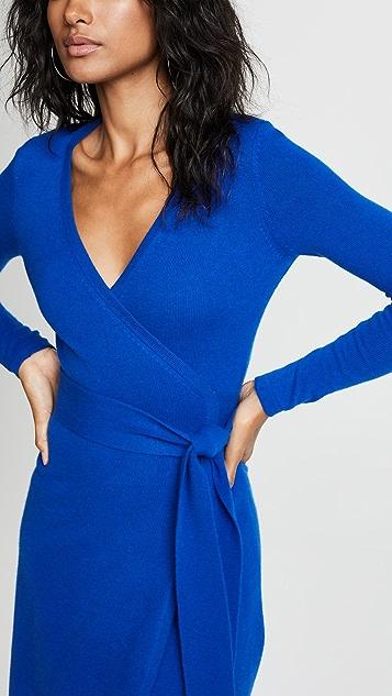 Diane von Furstenberg Платье-халат Linda из кашемира