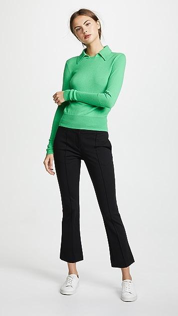 Diane von Furstenberg Mid Rise Boot Cut Pants